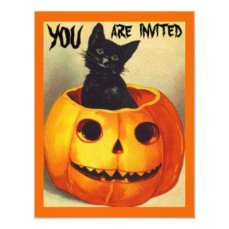 Cute Vintage Halloween Fun Party Invitations
