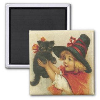 Cute Vintage Halloween Magnet