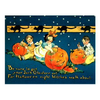 Cute Vintage Halloween Postcard