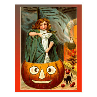 Cute Vintage Halloween Witches Brew Postcard