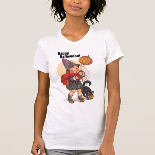 Cute Vintage Happy Halloween Trick or Treater T-Shirt
