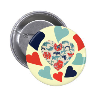 Cute Vintage Hearts Buttons