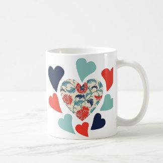 Cute Vintage Hearts Coffee Mug
