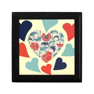 Cute Vintage Hearts Gift Box