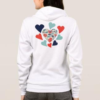 Cute Vintage Hearts Hoodie
