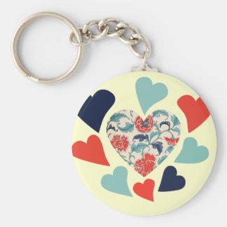 Cute Vintage Hearts Key Chain