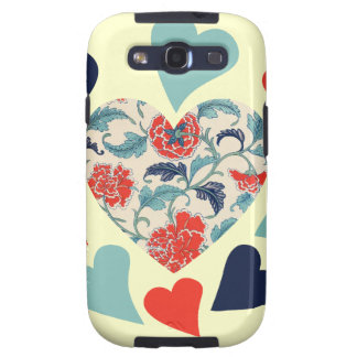Cute Vintage Hearts Samsung Galaxy S3 Covers