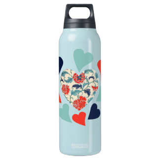 Cute Vintage Hearts SIGG Thermo 0.5L Insulated Bottle