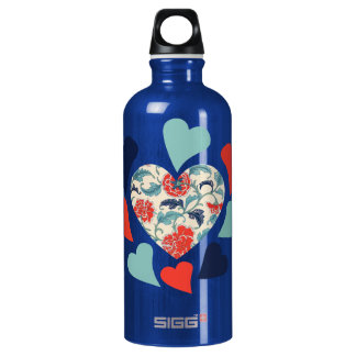 Cute Vintage Hearts SIGG Traveler 0.6L Water Bottle