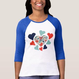 Cute Vintage Hearts T-Shirt
