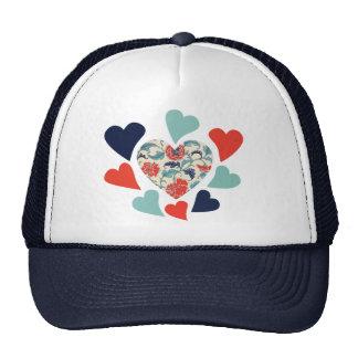 Cute Vintage Hearts Trucker Hat