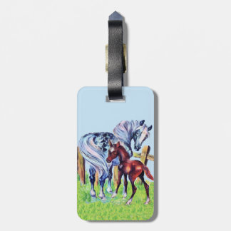 Cute Vintage Horses Mom Baby Tag For Luggage