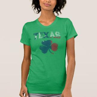 Cute Vintage Irish Flag of Texas Shamrock T-Shirt