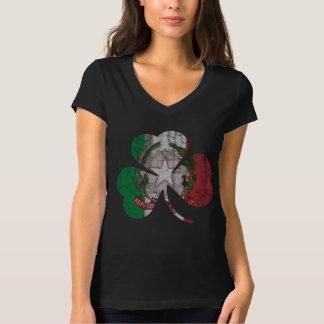 Cute Vintage Irish Italian Flag Shamrock Heritage T Shirt