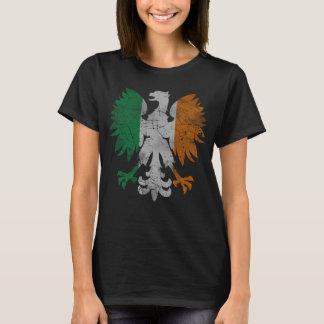 Cute Vintage Irish Polish Heritage Eagle Flag T-Shirt