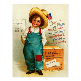 Cute Vintage July 4th Postcard