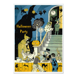 Cute Vintage Kids Halloween Party Personalized Invites