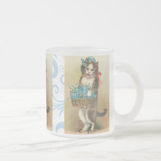 Cute Vintage Kitten Mug