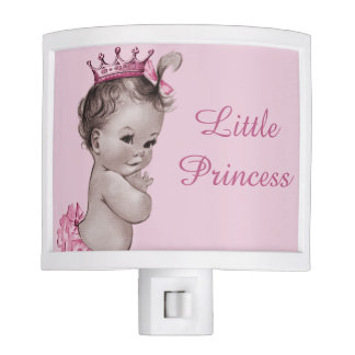 Cute Vintage Little Princess Baby Pink Night Light