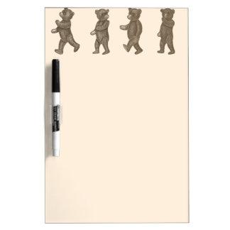 Cute Vintage Marching Teddy Bears Dry Erase Board