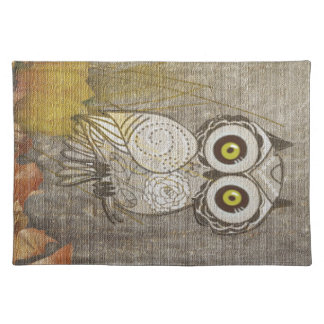 Cute Vintage Owl Multi Products Selected Gifts Cloth Placemat