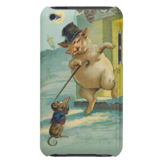 Cute Vintage Pig and Monkey - Funny Animals Barely There iPod Cover