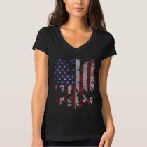 Cute Vintage Polish American Flag Eagle T-Shirt
