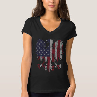 Cute Vintage Polish American Flag Eagle T-Shirt