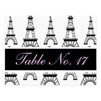 CUTE Vintage Postcard Table Number for Reception