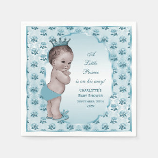 Cute Vintage Prince Baby Shower Napkin