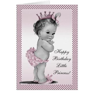 Cute Vintage Princess 1st Birthday Card