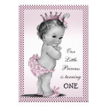 Cute Vintage Princess 1st Birthday Party Personalized Announcement