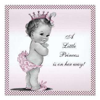 Cute Vintage Princess Baby Shower Card