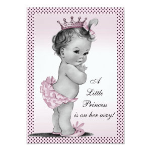 Princess baby shower invitations cute baby shower invitations cute vintage princess baby shower 5x7 paper invitation card filmwisefo