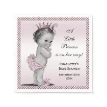 Cute Vintage Princess Baby Shower Paper Napkin