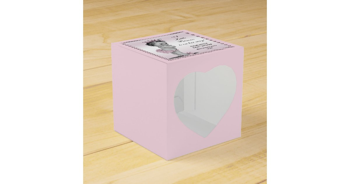Baby Shower Thank You Gift Boxes : Cute vintage princess baby shower thank you favor box zazzle