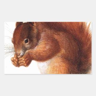 Cute Vintage Red Squirrel Sticker