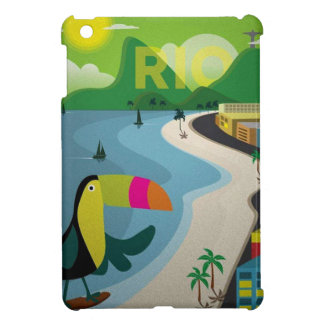 Cute Vintage Rio travel toucan poster Cover For The iPad Mini
