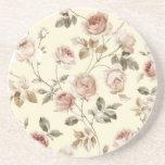 """Cute vintage roses coaster<br><div class=""""desc"""">Cute vintage roses coaster</div>"""