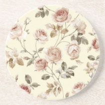 Cute vintage roses coaster