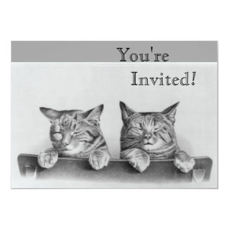Cute Vintage Sleepy Kittens Card
