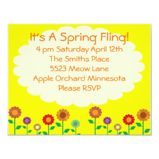 Cute Vintage Spring Theme Party Card