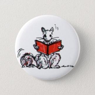 Cute Vintage Squirrels Reading Books Pinback Button