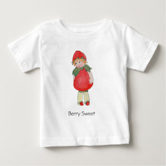 Cute Vintage Strawberry Girl Baby T-Shirt