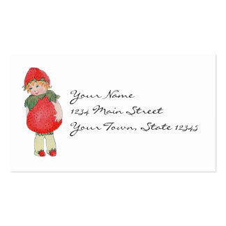 Cute Vintage Strawberry Girl Business Card