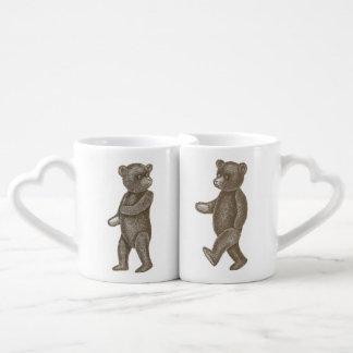 Cute Vintage Teddy Bear Couple Lovers' Mugs