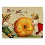 Cute Vintage Thanksgiving Greeting Greeting Cards