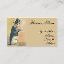 Cute Vintage Top Hat Dog Business Card