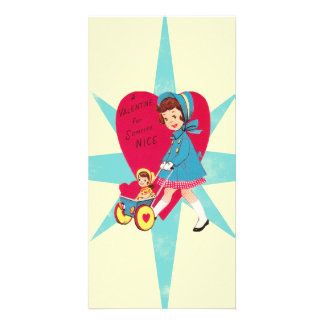Cute Vintage Valentines Day card Photo Card