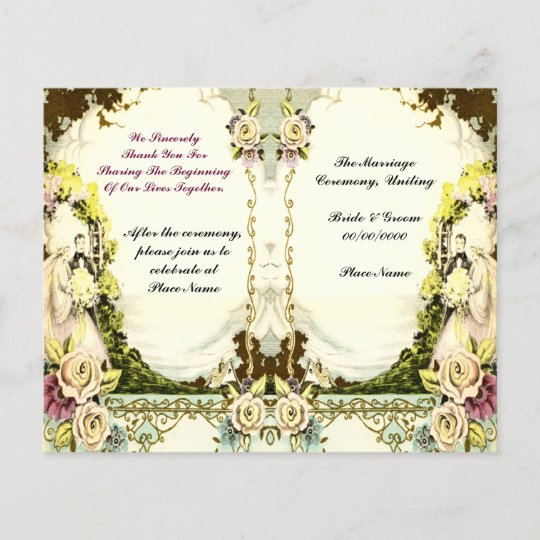 Cute Vintage Wedding Program